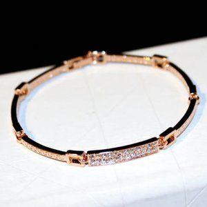 Diamond CZ Gold Bracelet